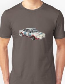 VINTAGE RALLY CAR. Unisex T-Shirt