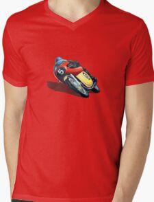 VINTAGE RACING MOTORCYCLE. Mens V-Neck T-Shirt