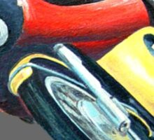 VINTAGE RACING MOTORCYCLE. Sticker