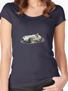 SINGLE SEATER VINTAGE RACE CAR. Women's Fitted Scoop T-Shirt