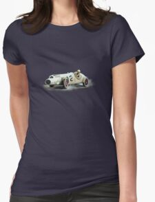 SINGLE SEATER VINTAGE RACE CAR. Womens Fitted T-Shirt