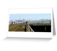 San Francisco in the distance Greeting Card