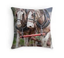 Working Clydes Throw Pillow