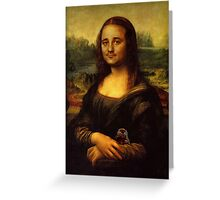 Bill Murray as Mona Lisa Greeting Card