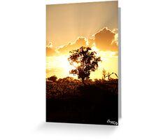 Atkamba Sunset Greeting Card