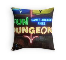 Vegas Fun Dungeon Throw Pillow