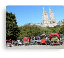 NYC Central Park Carriages Canvas Print