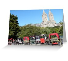 NYC Central Park Carriages Greeting Card