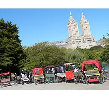 NYC Central Park Carriages Photographic Print