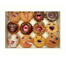 Freaking Donuts Art Print