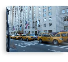 NYC Taxis Metal Print