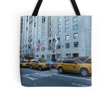 NYC Taxis Tote Bag