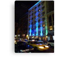 NYC, Manhattan, Taxi Canvas Print