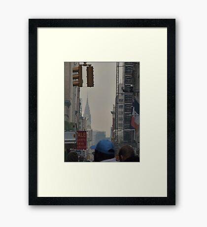 NYC Chrysler Building Sneak Peek Framed Print