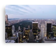 NYC Central Park View at Dusk Canvas Print