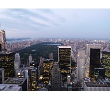 NYC Central Park View at Dusk Photographic Print