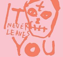 IT NEVER LEAVES YOU by Steve Leadbeater