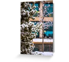 Snow covered tree Greeting Card