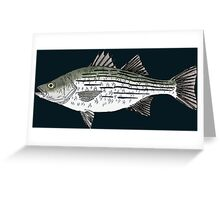 White Bass Greeting Card