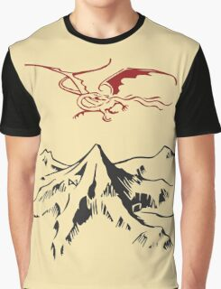 [The Hobbit] - Lonely Mountain (Light) Graphic T-Shirt