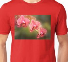 Red and White Orchids on a Stem Unisex T-Shirt