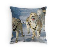 Alaskan Sled Dog Throw Pillow