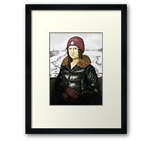Mona Lisa in winter Framed Print