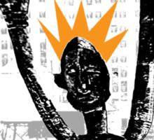 tribe rooftop scream Sticker