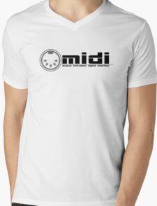 MIDI - Musical Instrument Digital Interface Mens V-Neck T-Shirt