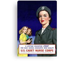 US Cadet Nurse Corps Canvas Print