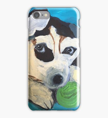 Playful pup by Grace Sievers iPhone Case/Skin