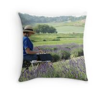 Painting in the Hills Throw Pillow