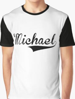Baseball Style Michael Graphic T-Shirt
