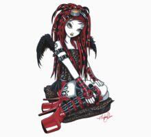 Crimson Cybergoth Angel by Myka Jelina