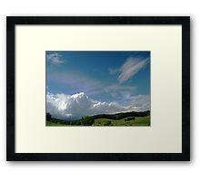Rainbow Tinted Skyscape Framed Print