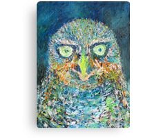 THE OWL - oil portrait Canvas Print