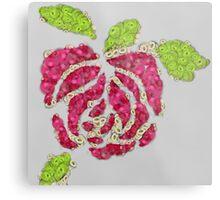Fruit & Vegetable Rose Metal Print