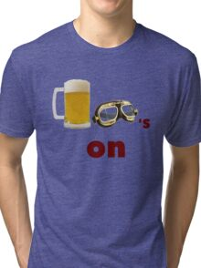 beer goggles on Tri-blend T-Shirt