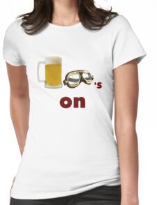 beer goggles on Womens Fitted T-Shirt