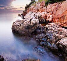 Bass Harbor Lighthouse High Tide by MIRCEA COSTINA