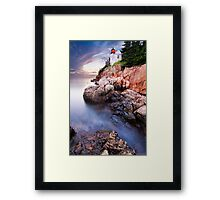Bass Harbor Lighthouse High Tide Framed Print