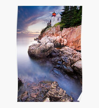 Bass Harbor Lighthouse High Tide Poster