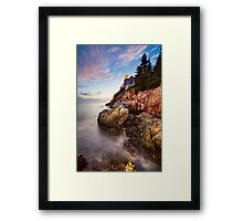 High Tide Lighthouse Framed Print