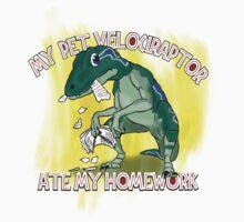 My Velociraptor Ate My Homework Baby Tee