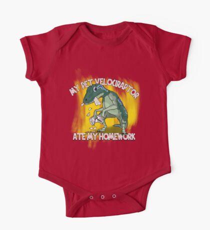My Velociraptor Ate My Homework One Piece - Short Sleeve