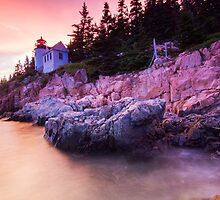 Bass Harbor Lighthouse Sunset by MIRCEA COSTINA