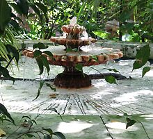 The Garden Fountain by Tanya Shockman