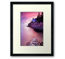 Acadia Sunset Framed Print