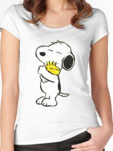 Snoopy and Woodstock Women's Fitted Scoop T-Shirt