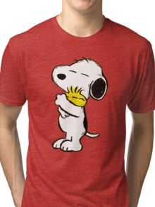 Snoopy and Woodstock Tri-blend T-Shirt